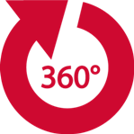 Operations Management Services in Connecticut-Red 360 Degree Arrow icon